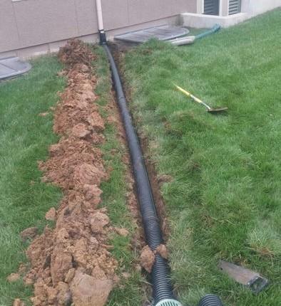 Downspout Extensions Leawood Gordon Energy Amp Drainage